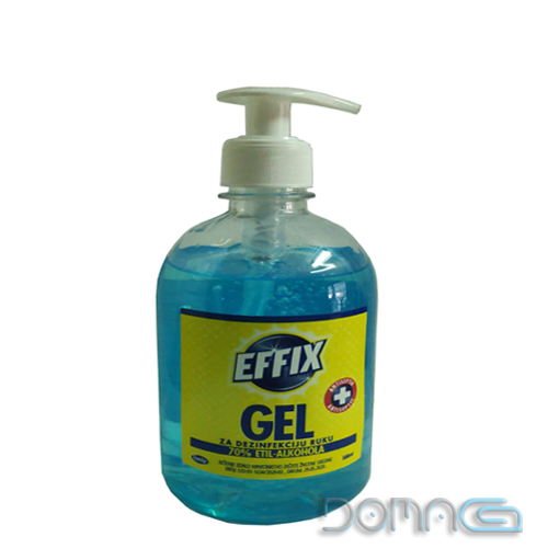 Antibakterijski gel sa pumpicom Effix 500ml - DOMAG d.o.o.